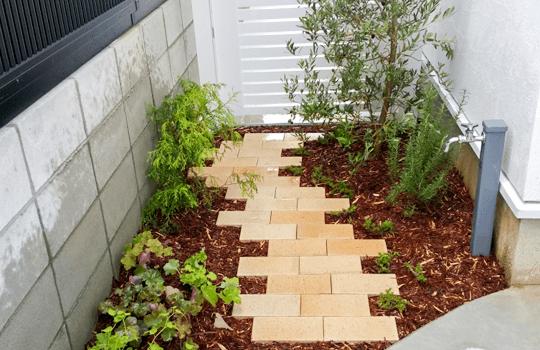 住宅のお庭